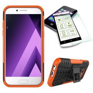 Hybrid Case Tasche Orange für Samsung Galaxy A3 2017 A320F + H9 Hartglas Neu - Vorschau 1