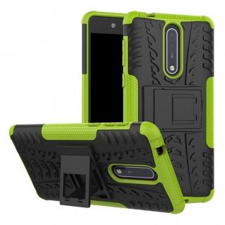 Hybrid Case 2teilig Outdoor Grün Tasche Hülle für Nokia 8 Schutz Etui Cover Neu