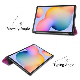 3folt Wake UP Smart Cover Lila Tasche Etuis Hülle für Samsung Galaxy Tab S6 Lite