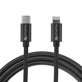USB Typ C auf Lightning Kabel für Apple Datenkabel Ladekabel Fast Charge Schwarz