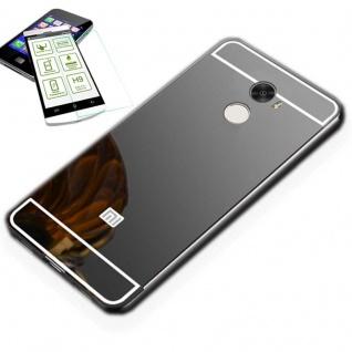 Alu Bumper 2 teilig Schwarz + 0, 3 H9 Glas für Xiaomi Redmi 5 Plus Tasche Hülle