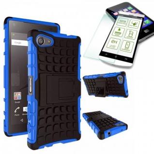 Hybrid Case Blau für Sony Xperia Z5 Compact 4.6 Zoll + 0.3 H9 Hartglas Tasche