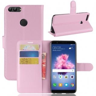 Tasche Wallet Premium Rosa für Huawei Enjoy 7S / P Smart Hülle Case Cover Schutz - Vorschau 1