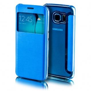 Für Apple iPhone 7 4.7 Smartcover Window Hellblau Tasche Hülle Case Etui Schutz