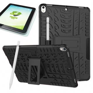 Hybrid Outdoor Hülle Schwarz für Apple iPad Pro 10.5 Tasche + 0.4 H9 Hartglas