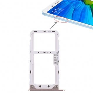 Für Xiaomi Redmi Note 5 Karten Halter Sim Tray Schlitten Holder Ersatz Gold Neu