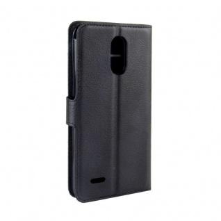 Tasche Wallet Premium Schwarz für LG Stylus 3 Hülle Case Cover Etui Schutz Neu - Vorschau 3