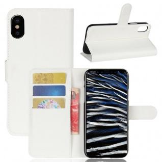 Schutzhülle Weiß für Apple iPhone X / XS 5.8 Zoll Bookcover Tasche Case