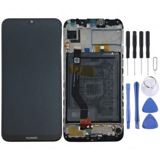 Huawei Display LCD Rahmen für Y7 2019 Service 02352KDA Blau Batterie Akku Neu