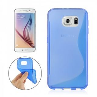 Silikonhülle S-Line Blau Cover Hülle für Samsung Galaxy S6 G920 G920F Kappe Case