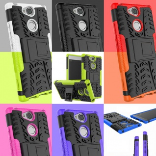 Hybrid Case 2teilig Robot Cover Kappe Hülle Zubehör Etui für Sony Xperia Modelle