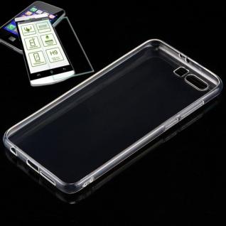 Silikoncase Transparent Tasche + 0, 3 H9 Panzerglas für Huawei Honor 9 Hülle Neu