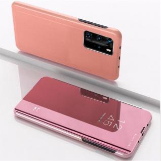 Für Xiaomi Mi 10T / 10T Pro 5G View Smart Cover Hülle Pink Handy Tasche Etuis