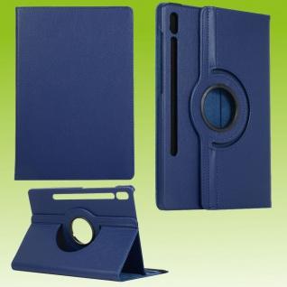 Für Samsung Galaxy Tab S7 T870 Tablet Tasche Hülle Case Etuis Schutz Dunkel Blau
