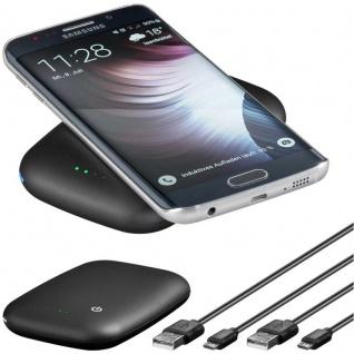 PowerBank Externer Akku 4000mAh für Smartphones kabellos induktiv Ladestation QI