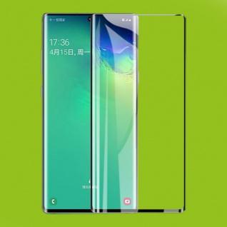 Für Samsung Galaxy Note 20 Plus 2x 4D Display H9 Curved Glas Schwarz Panzer Full
