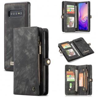 Handy Tasche für Samsung Galaxy S10 Plus G975F CaseMe Geldbeutel + Etui Schwarz
