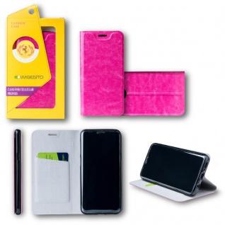Für Huawei P20 Flip / Smart Cover Pink Case Schutz Etui Tasche Hülle Schutz Neu