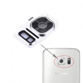 Für Samsung Galaxy S7 G930F Kamera Ring Glas Abdeckung Rahmen Cover Silber Neu