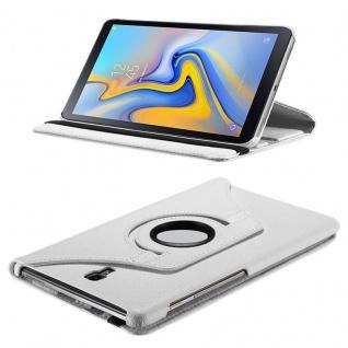 Für Samsung Galaxy Tab A 10.5 T590 T595 Weiß 360 Grad Hülle Cover Tasche Case