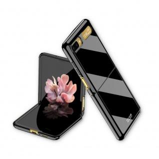 Für Samsung Galaxy Z Flip Schutzcase Hartschale Schutz Schwarz Cover Zubehör