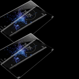 2x Für Sony Xperia XZ3 4D 0, 3 mm H9 Full Curved Display Hart Glas Schwarz Cover