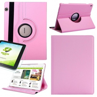 Für Apple iPad Pro 12.9 3. Gen Rosa 360 Grad Hülle Tasche Kunstleder + Hart Glas