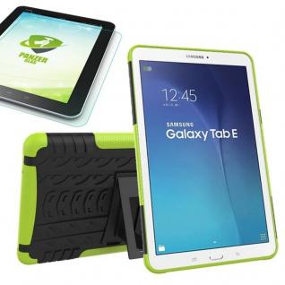 Hybrid Outdoor Tasche Grün für Samsung Galaxy Tab E 9.6 T560 + 0.4 Hartglas