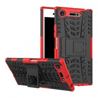 Hybrid Case 2teilig Outdoor Rot Tasche Hülle für Sony Xperia XZ1 G8341 G8342 Neu