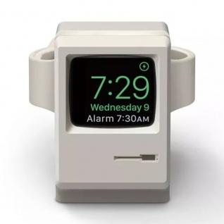 Ständer für Apple Watch Halter Station Retro Style Silikon Halterung Dekoration Grau
