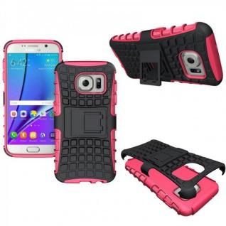 Hybrid Case 2teilig Outdoor Pink Tasche Hülle für Samsung Galaxy S7 G930 G930F