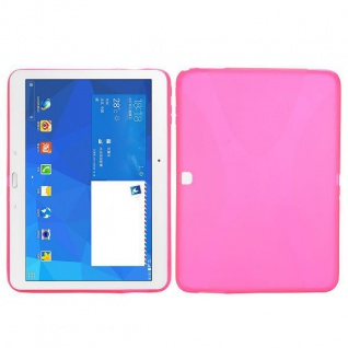 Silikonhülle Pink für Samsung Galaxy Tab 4 SM-T530 T530 Hülle Case Cover Kappe