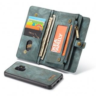 Schutzhülle Handy Tasche f. Samsung Galaxy S9 G960F Geldbeutel Hülle Etui Blau