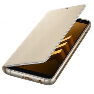 Samsung Neon Flip Cover Hülle EF-FA530PLE Galaxy A8 2018 A530F Tasche Gold Neu
