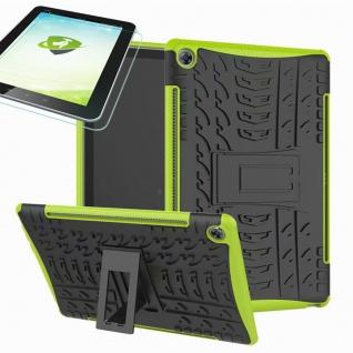 Für Huawei MediaPad M5 10.8 und Pro Hybrid Outdoor Grün Tasche 0.4 H9 Schutzglas