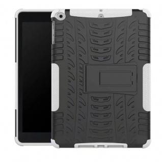 Hybrid Outdoor Schutzhülle Cover Weiß für Apple iPad 9.7 2017 Tasche Case Hülle