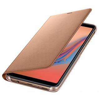 Samsung Wallet Cover Hülle EF-WA750PFEGWW Galaxy A7 2018 A750F Schutzhülle Gold - Vorschau 3