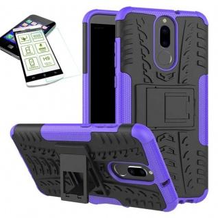 Hybrid Case Tasche Outdoor 2teilig Lila für Huawei Mate 10 Lite Hülle + Glas Neu