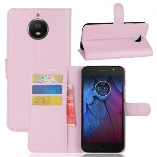 Tasche Wallet Premium Rosa für Motorola Moto G5S Plus Hülle Case Cover Etui Neu