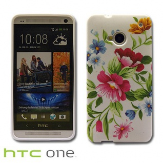 Silikonhülle Design Motiv Muster Hülle Case Schale Cover für HTC Handys Neu Top - Vorschau 3