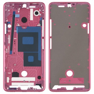 Gehäuse Rahmen Mittelrahmen Front Housing kompatibel für LG G7 ThinQ Pink Neu