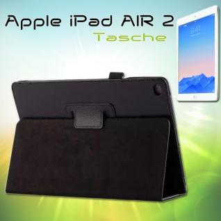 Schutzhülle Kunstleder Tasche Schwarz für Apple iPad Air 2 2014 Case Kappe Hülle