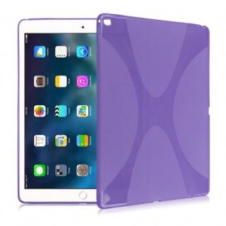 Schutzhülle Silikon X-Line Lila Hülle für Apple iPad Pro 9.7 Zoll Tasche Cover