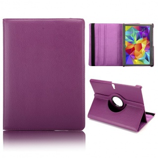 Schutzhülle 360 Grad Lila Tasche für Samsung Galaxy Tab S 10.5 T800 Zubehör Neu