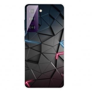 Für Samsung Galaxy S21 Plus Silikon TPU Dark Blocks Handy Hülle