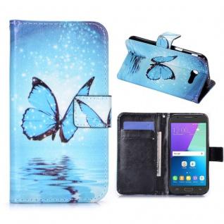 Schutzhülle Motiv 31 für Samsung Galaxy J3 2017 Tasche Hülle Case Flip Zubehör