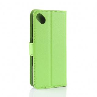 Tasche Wallet Premium Grün für Wiko Sunny 2 Plus Hülle Case Cover Etui Schutz - Vorschau 4