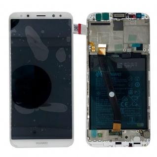 Huawei Display LCD Rahmen für Mate 10 Lite Service Pack 02351QXU Weiß Battery