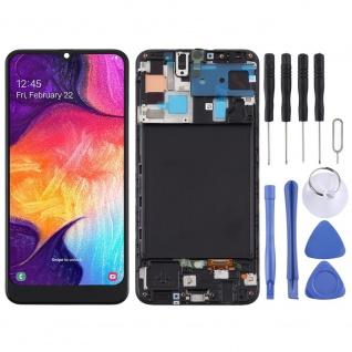 Für Samsung Galaxy A50 A505F Display Full TFT LCD + Rahmen Touch Ersatz Schwarz