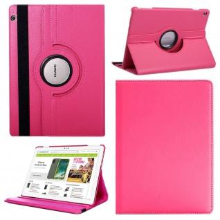 Für Huawei MediaPad M5 Lite 10.1 Tablet 360 Grad Tasche Hülle Cover Etuis Pink